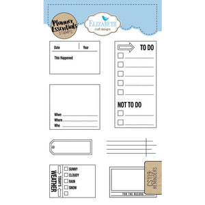 Elizabeth Craft Clear Stamp - Reminders | Elizabeth Craft