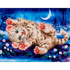 "Diamond Dotz Art Kit - Baby Tiger Roly Poly 17"" x 13.75"""