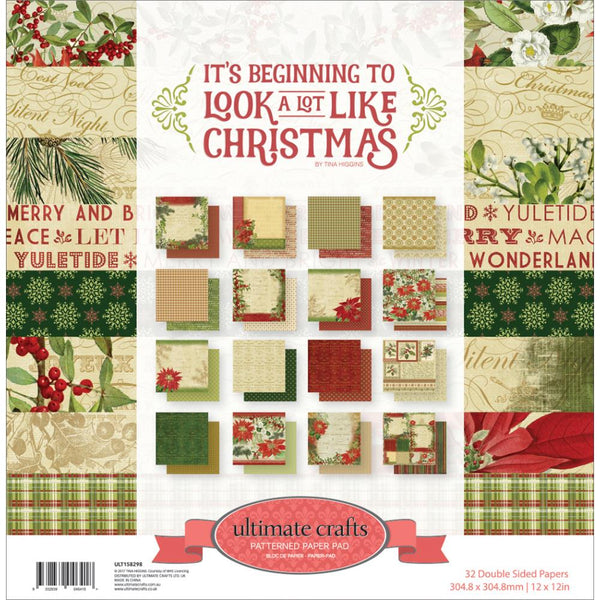 Ultimate Crafts - It's Beginning to Look a lot Like Christmas - 12x12 Paper pad