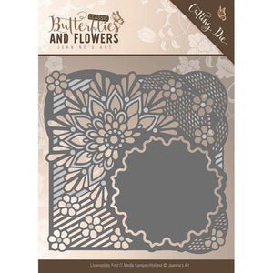 Find It Trading Jeanine's Art Cutting Die - Butterflies and Flowers Flower Frame