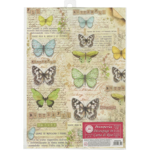 Stamperia Rice Paper Sheet A4 - Butterfly
