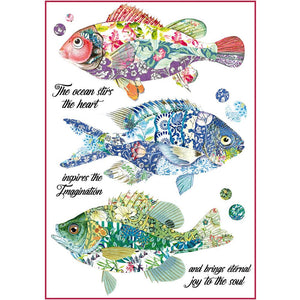 Stamperia Rice Paper Sheet A4 - Fantasy Fish