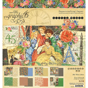 "Graphic 45 - Little Women Double-Sided Paper Pad 8""X8"" 24/Pkg"