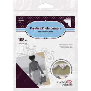3L Scrapbook Adhesives Paper Photo Corners Self-Adhesive 108/Pk