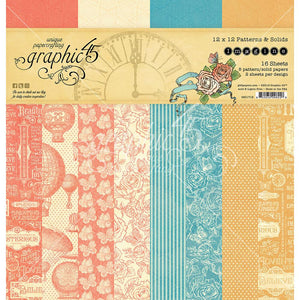 *Pre-Order* Graphic 45 Imagine - Patterns and Solids paper pad