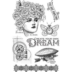 *Pre-Order* Graphic 45 Imagine - Clear stamps