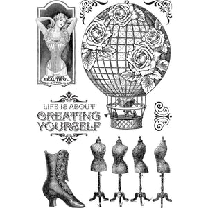 *Pre-Order* Graphic 45 Imagine - Create Yourself Clear Stamps