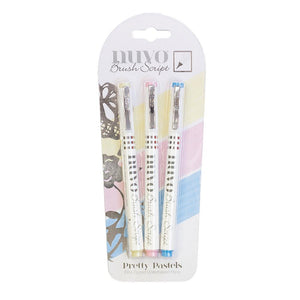 Nuvo Brush Script Pen Pack - Pretty Pastels