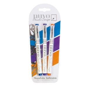 Nuvo Brush Script Pen Pack - Mandala Infusion