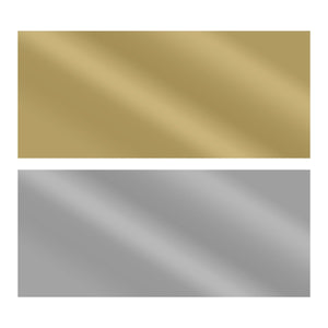 Mirror Foil - AD - Gold & Silver - 6 sheets self adhesive - 23 x 10cm
