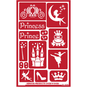 Armour Products - Over N Over Reusable Stencils - Fairytales