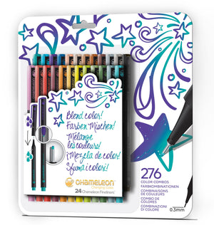 Chameleon Fineliner 24-Pen Bold Colors Set