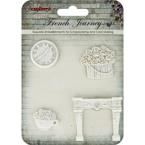 *Pre-Order* ScrapBerry's French Journey #3 Clock, Flower Basket, Cup, Fireplace