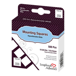 Adhesive - Mounting Squares - Repositionable (500pc)