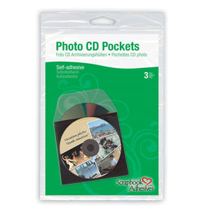 3L Scrapbook Adhesives Photo CD Pockets 5x5 3pcs - bag