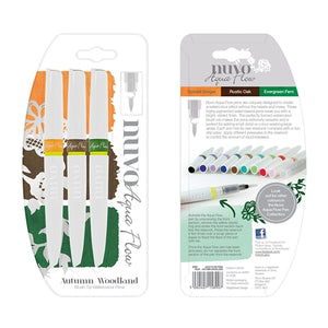 Nuvo Aqua Flow Pens - Autumn Woodland (3 pack)