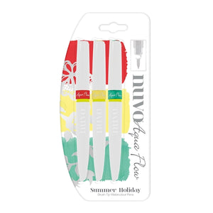 Nuvo Aqua Flow Pens - Summer Holiday (3 pack)