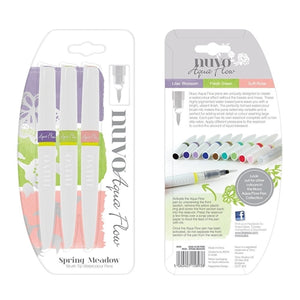 Nuvo Aqua Flow Pens - Spring Meadow (3 pack)