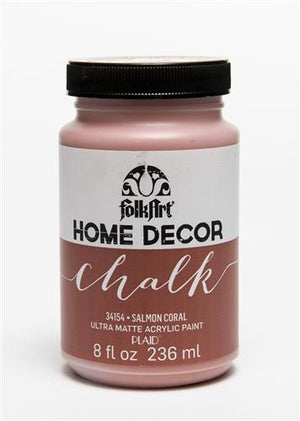 Plaid / Folkart - Home Decor Chalk Ultra - Matte Paint (8oz) - Salmon Coral