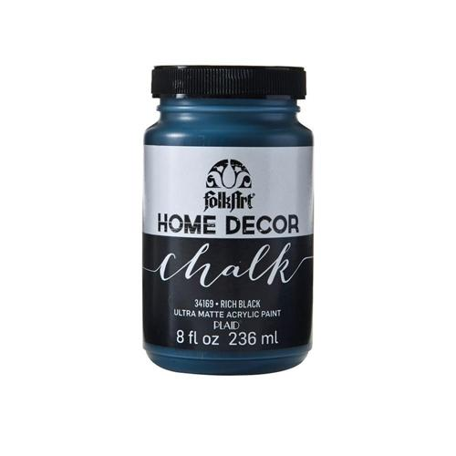 Plaid / Folkart - Home Decor Chalk Ultra - Matte Paint (8oz) - Rich Black