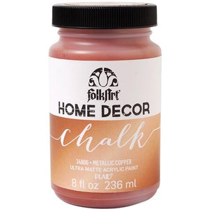 Plaid / Folkart - Home Decor Chalk Paint (8oz) - Metallic Copper
