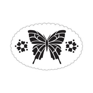 Plaid Folkart Large Stencil - Butterfly Frame
