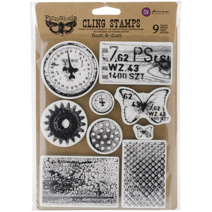 "Finnabair Cling Stamp 6x7.5"" - Rust & Dust"