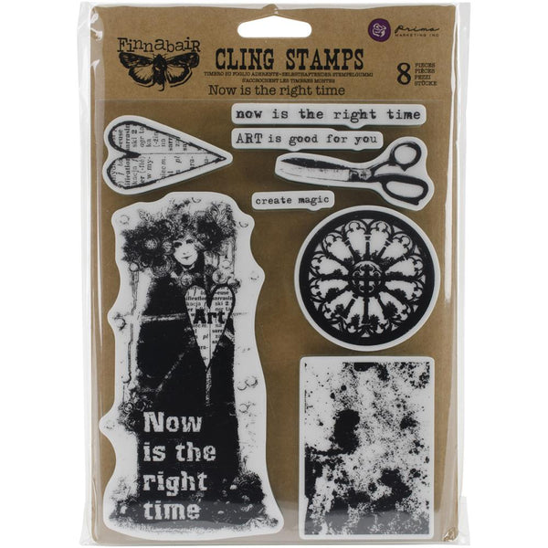 "Finnabair Cling Stamp 6x7.5"" - Now is the Right Time"