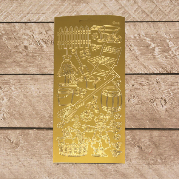 Sticker - AD - Garden - Gold
