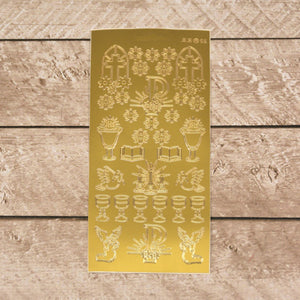 Sticker - AD - Communion motives - Gold