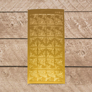 Sticker - Small corners gold/gold