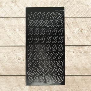Sticker - AD - Large Numbers - black