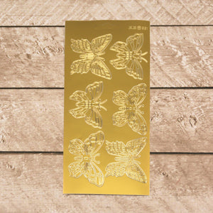 Sticker - Large butterflies gold/gold