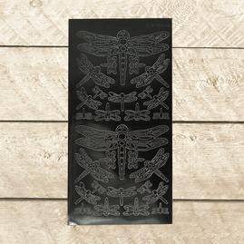Artdeco Sticker - Dragonfly - Black