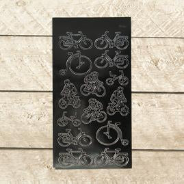 Artdeco Sticker - Bikes - Black
