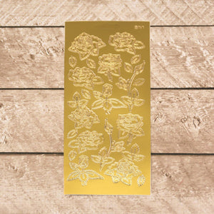 Sticker - AD - Various roses gold/gold
