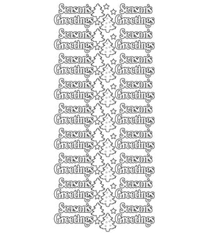 Sticker - AD - Season Greetings gold/gold