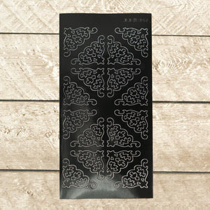 Artdeco Sticker - Corners Large 4 - Black