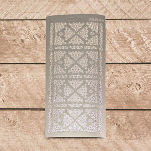 Sticker - AD - Ornament corners silver/silver