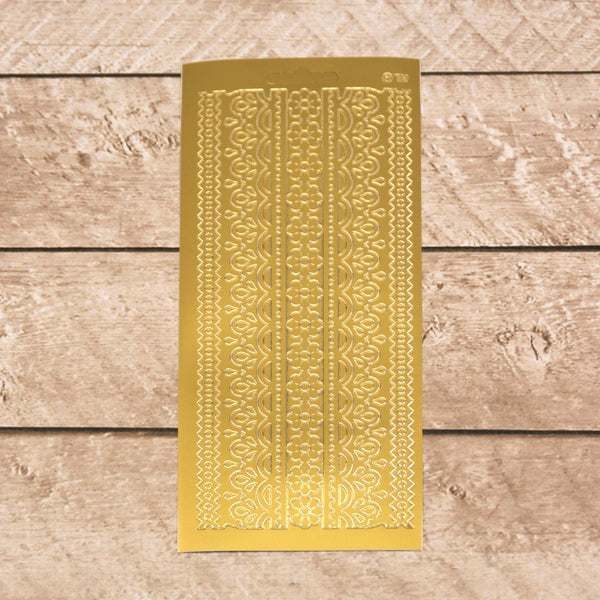 Sticker - AD - Lace Pattern 2 - Gold