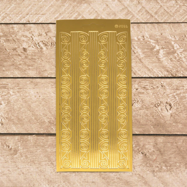 Sticker - AD - Home Deco Borders - Gold
