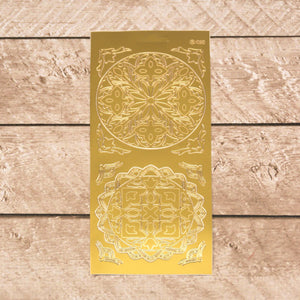 Sticker - AD - Tulip corners combi gold/gold