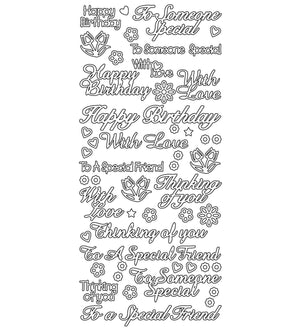 Sticker - AD - To someone special silver/silver