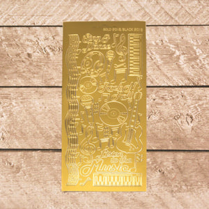 Sticker - AD - Music Dazzles- Gold