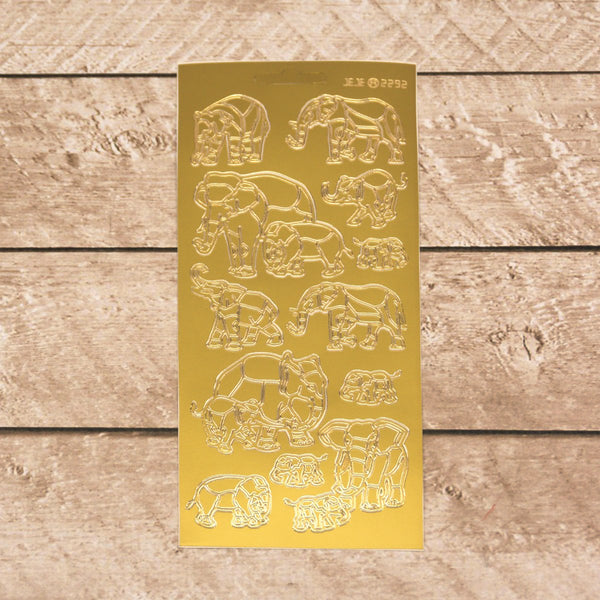 Sticker - AD - Elephants gold/gold