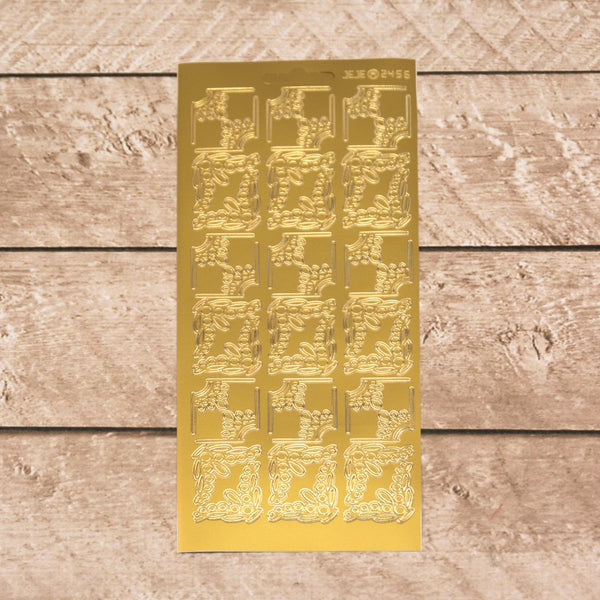 Sticker - AD - Corners - Gold
