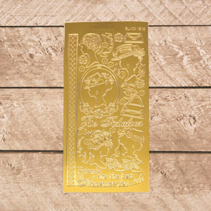 Sticker - AD - Silhouette Ladies gold/gold