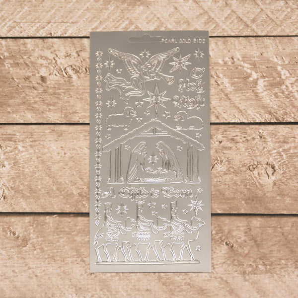 Sticker - AD - Nativity silver/silver