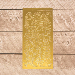 Sticker - AD - Ferns gold/gold