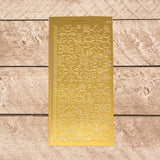 Sticker - AD - Mixems Flowers gold/gold